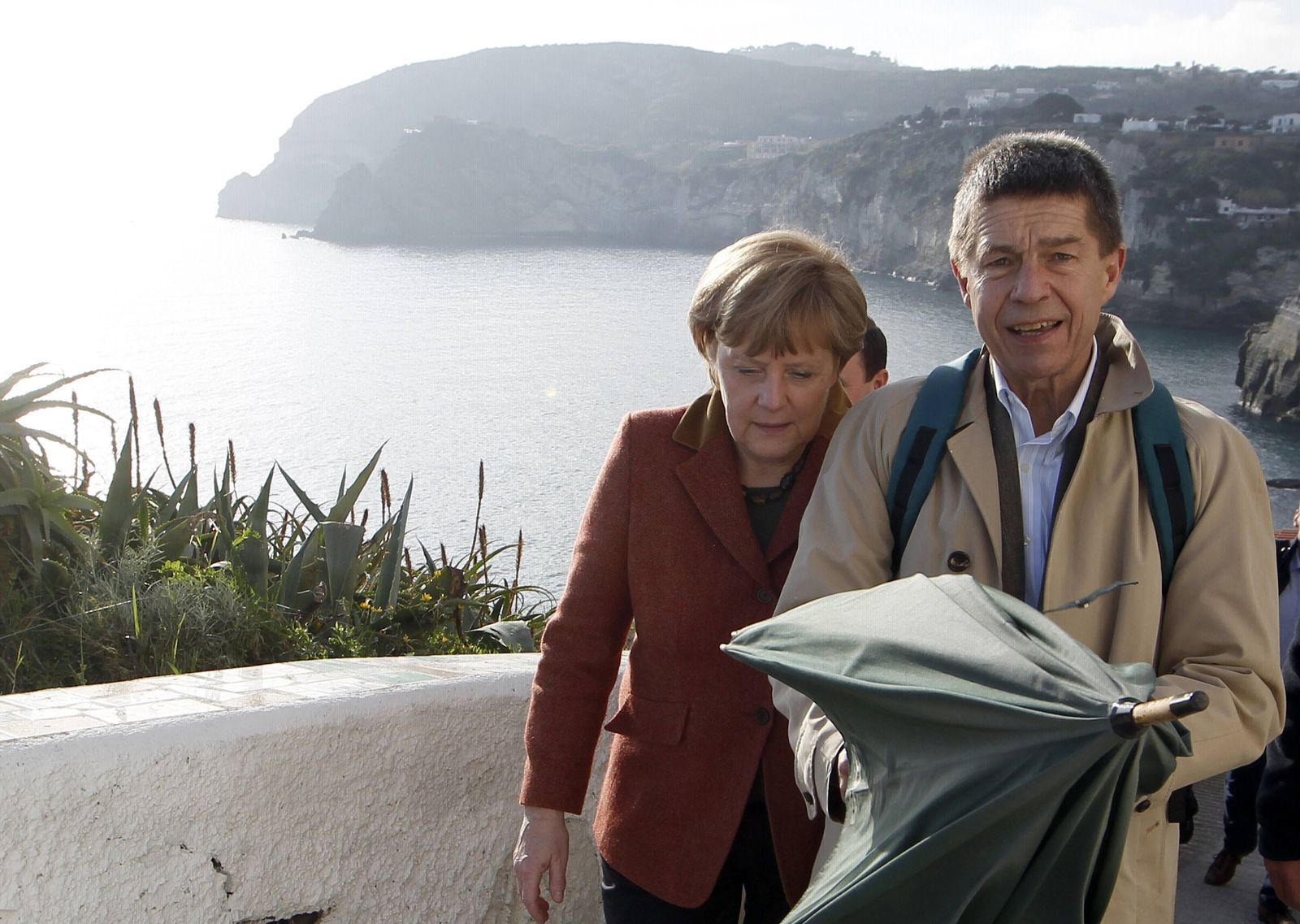 Merkel/ Sauer/ Italien-Urlaub