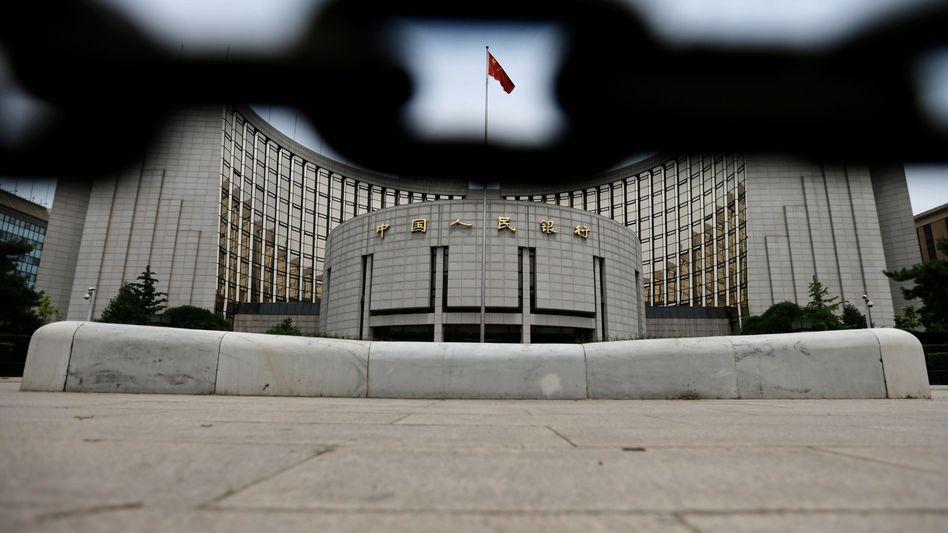 Chinesische Zentralbank in Peking: IWF begrüßt Eingreifen der Notenbank