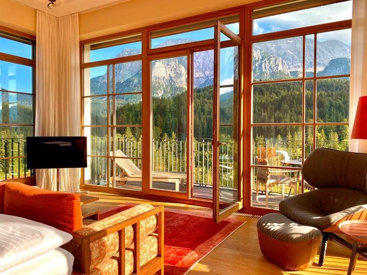 Alpenblick: An Platz, um sich aus dem Weg zu gehen, mangelt es nicht