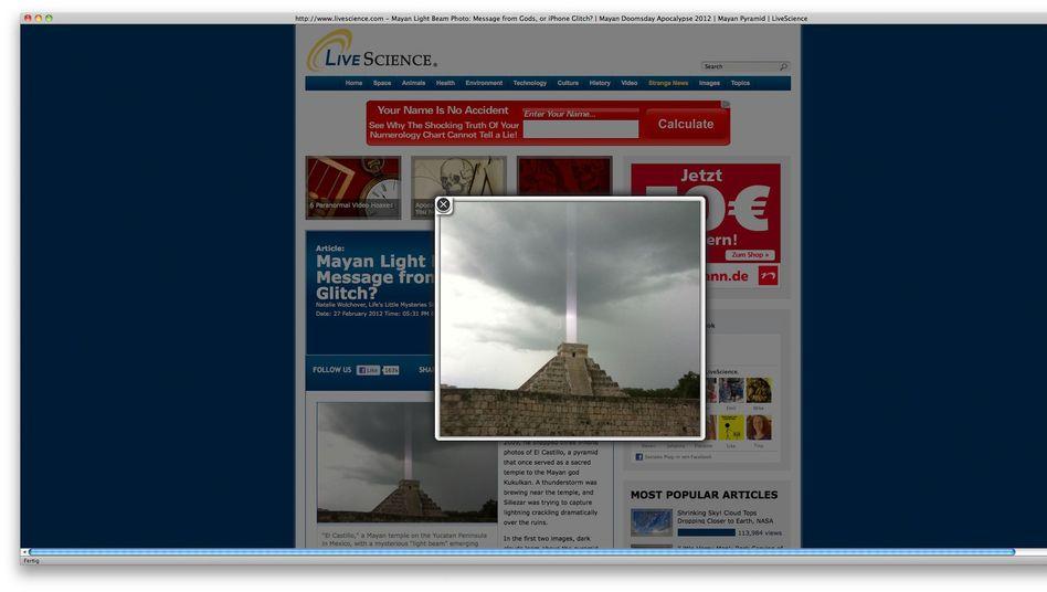 """Kukulkán-Pyramide mit Lichtstrahl: """"Auch kein Touristenführer hatte so etwas je gesehen."""""""