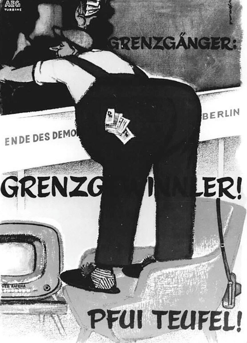Grenzgänger, Plakat von Leo Haas
