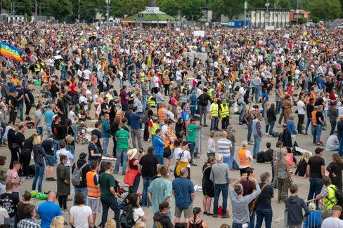 Demonstration von Corona-Skeptikern vergangenen Samstag in Stuttgart