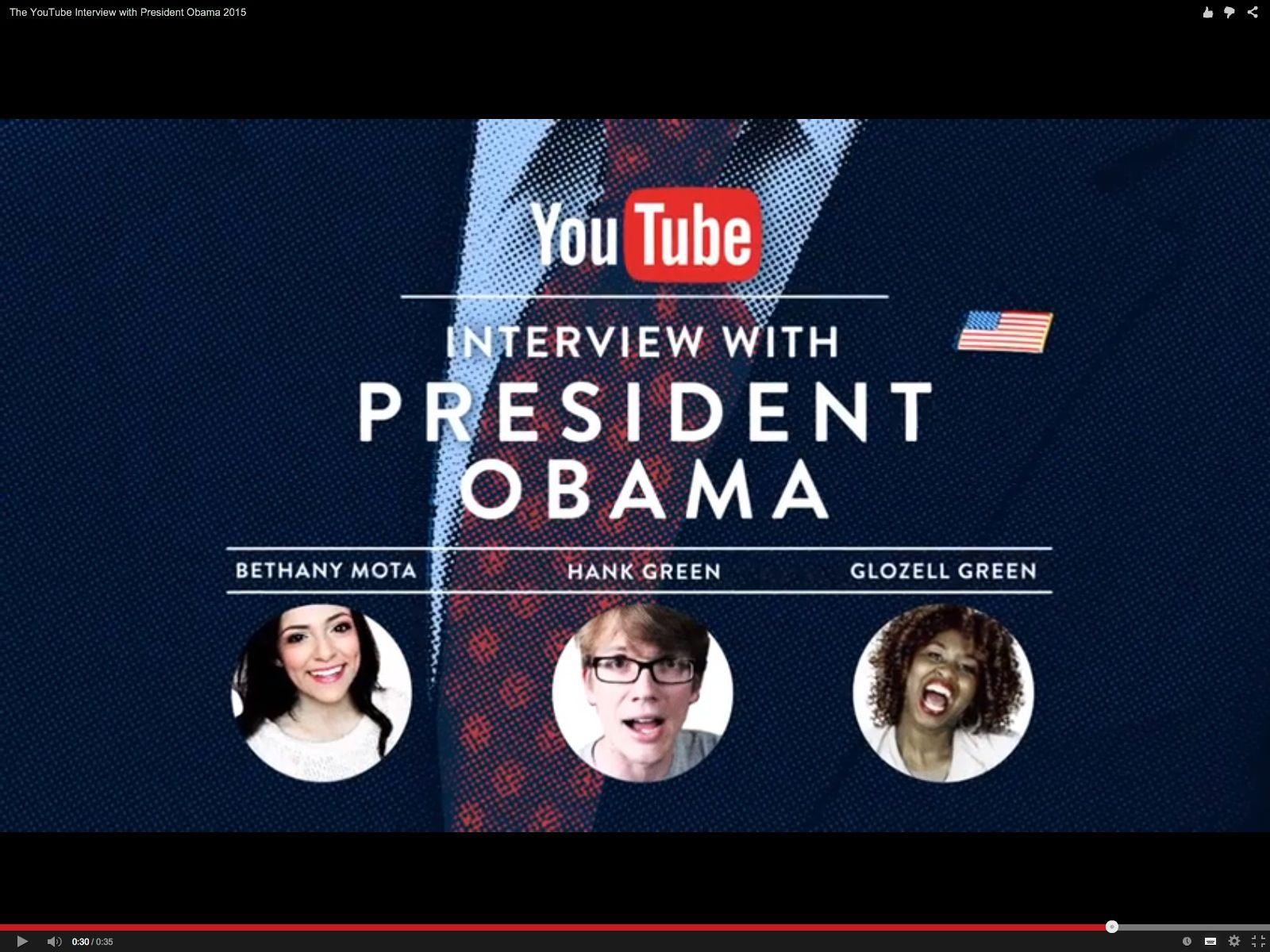 EINMALIGE VERWENDUNG NUR ALS ZITAT Screenshot/ YouTubeAsksObama