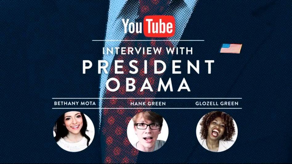 Interview-Ankündigung: Netzstars treffen den US-Präsidenten