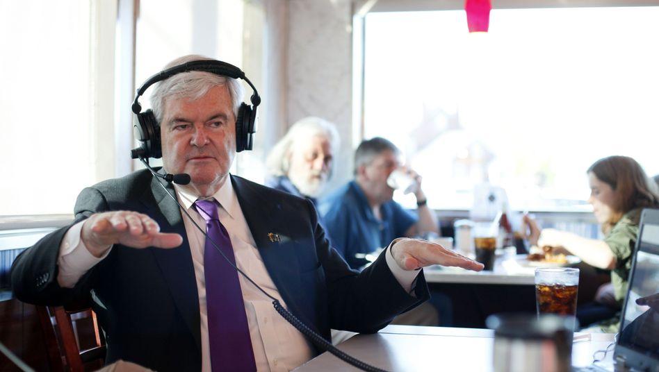 Gingrich: Liebling der Journalisten, TV-Kabelsender und Late-Night-Comedians