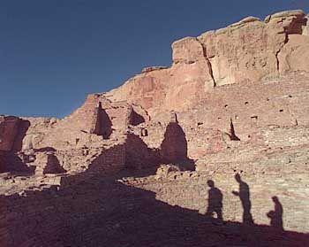 Ruinen einer Anasazi-Siedling im Chaco Canyon, New Mexico: Computermodell sagte Lage des größten Dorfs voraus