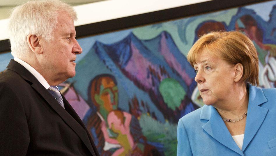 Innenminister Seehofer, Kanzlerin Merkel