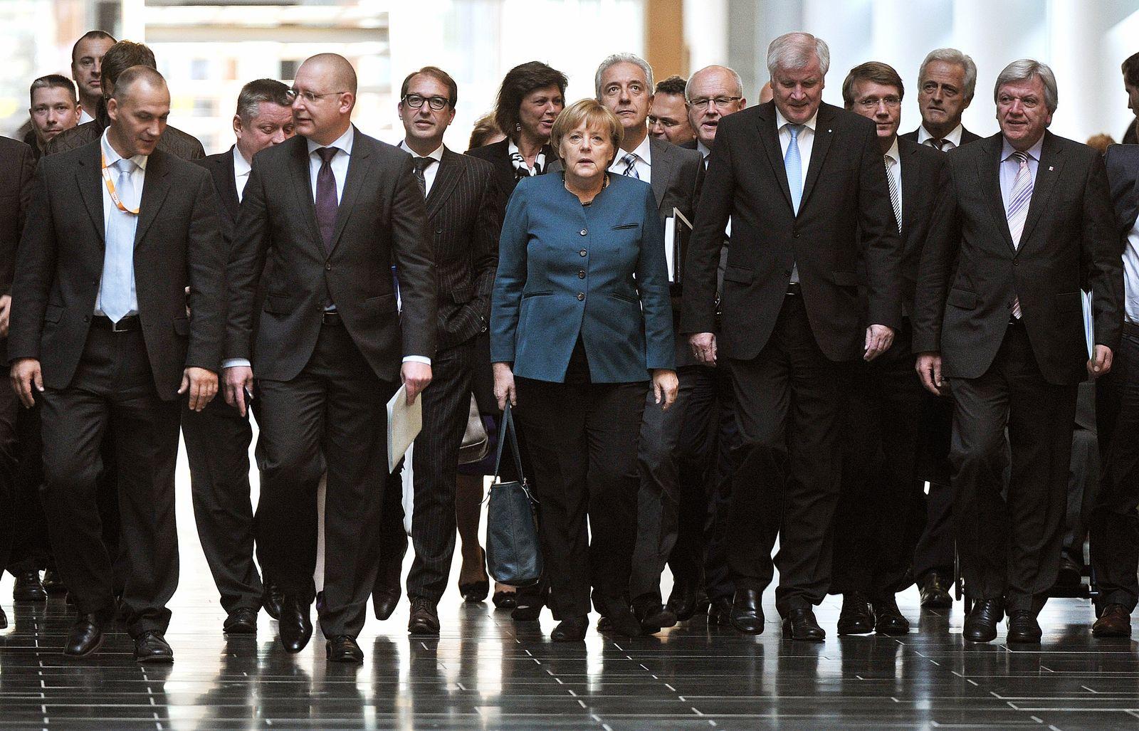Merkel/ Sondierungsgespräche