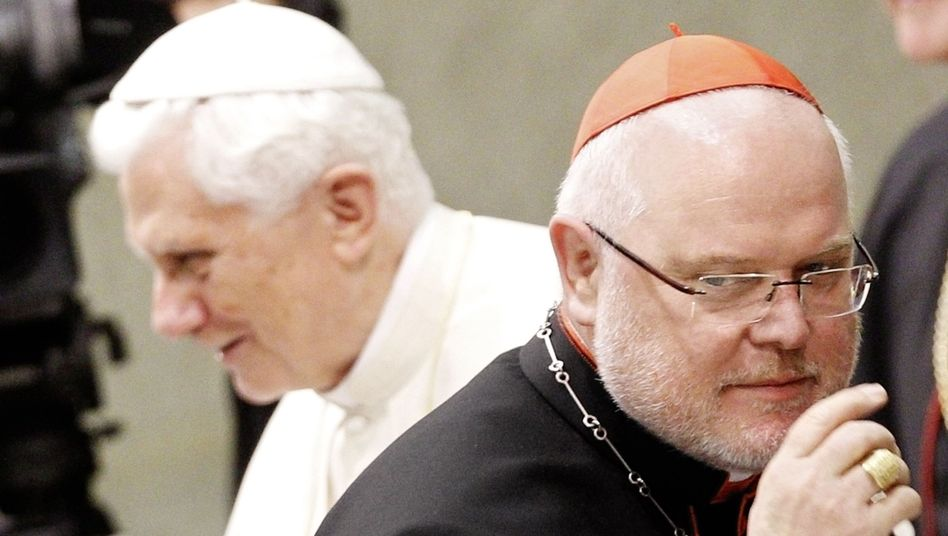 "Pope Benedict XVI promoted Reinhard Marx of Germany (right) to cardinal earlier in November. Marx has promised to ""clear up"" an abuse case in his archdiocese."