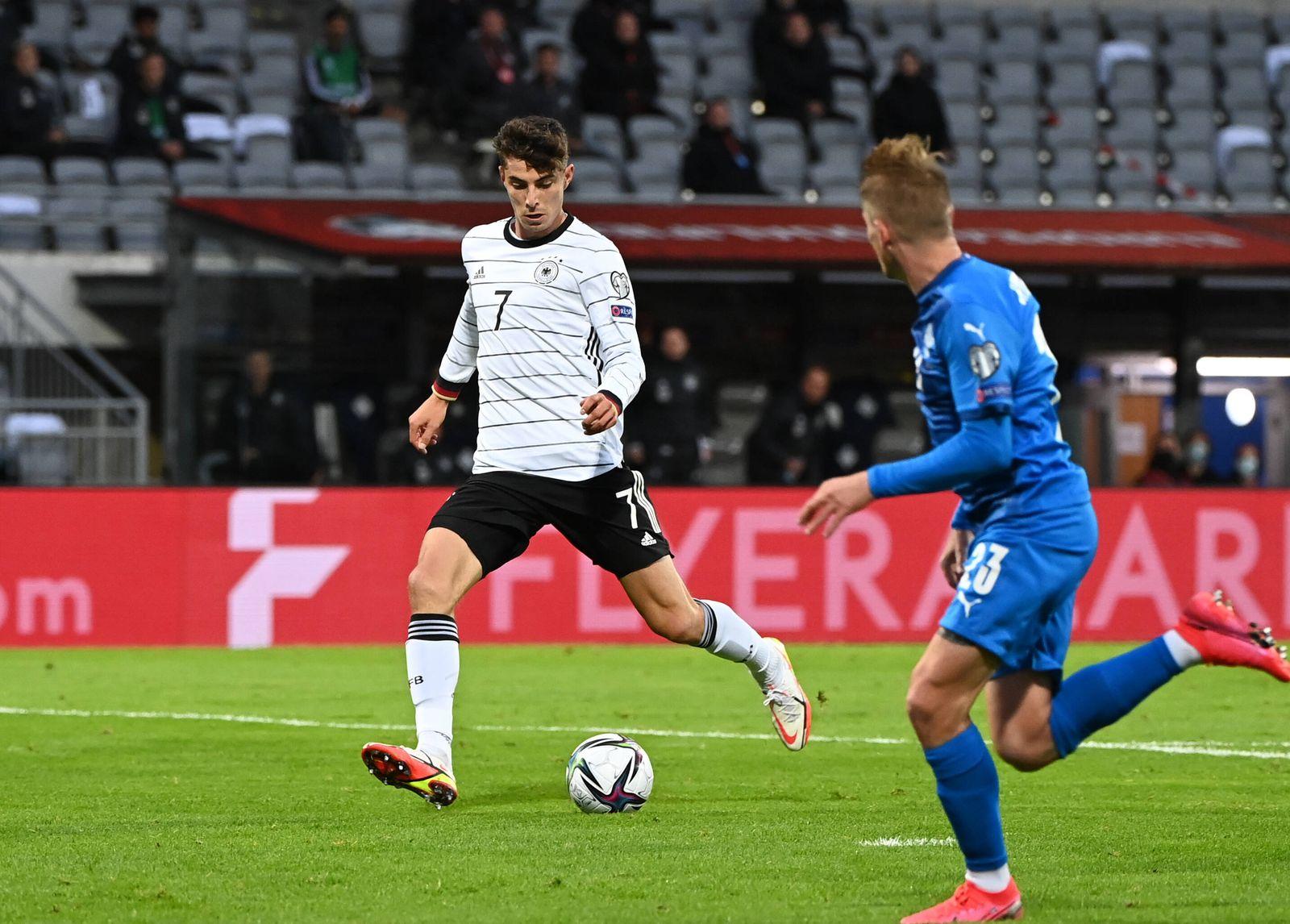 Fussball, Herren, Saison 2020/21, WM-Qualifikation (Gruppe J, 6. Spieltag) in Reykjavik, Island - Deutschland, v. l. Kai