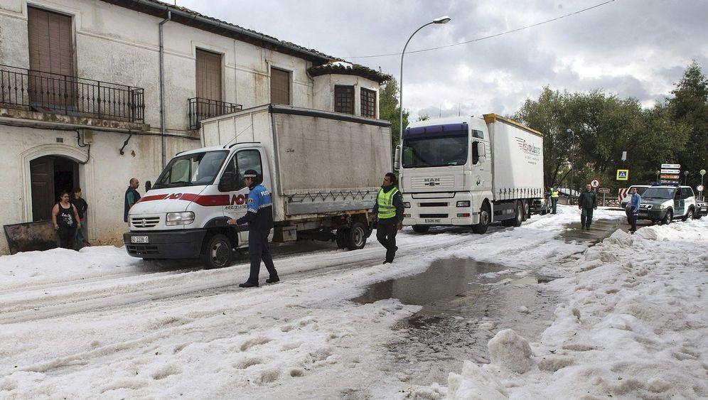 Spanien: Heftige Hagelschauer mit Folgen