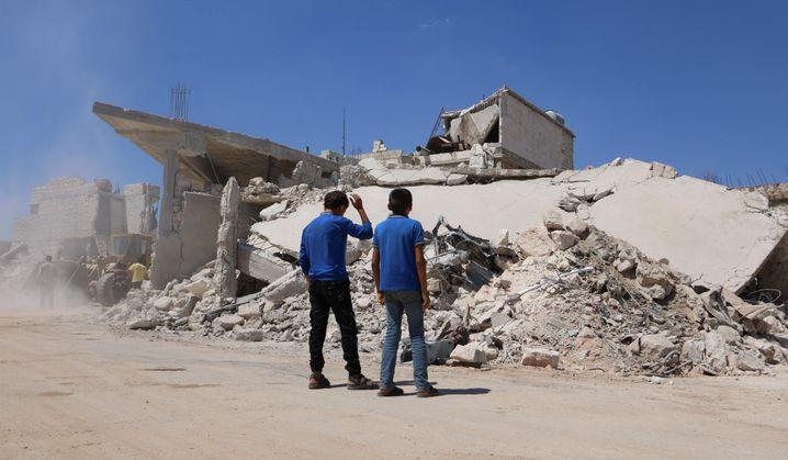 Kriegsschäden in Nordsyrien