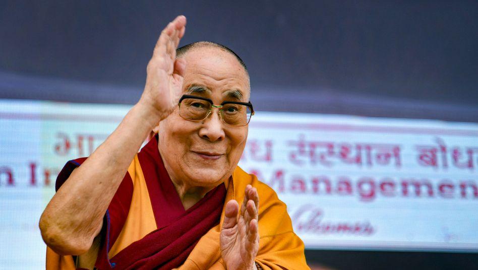 Der Dalai-Lama während eines Besuchs in Indien im Januar 2020