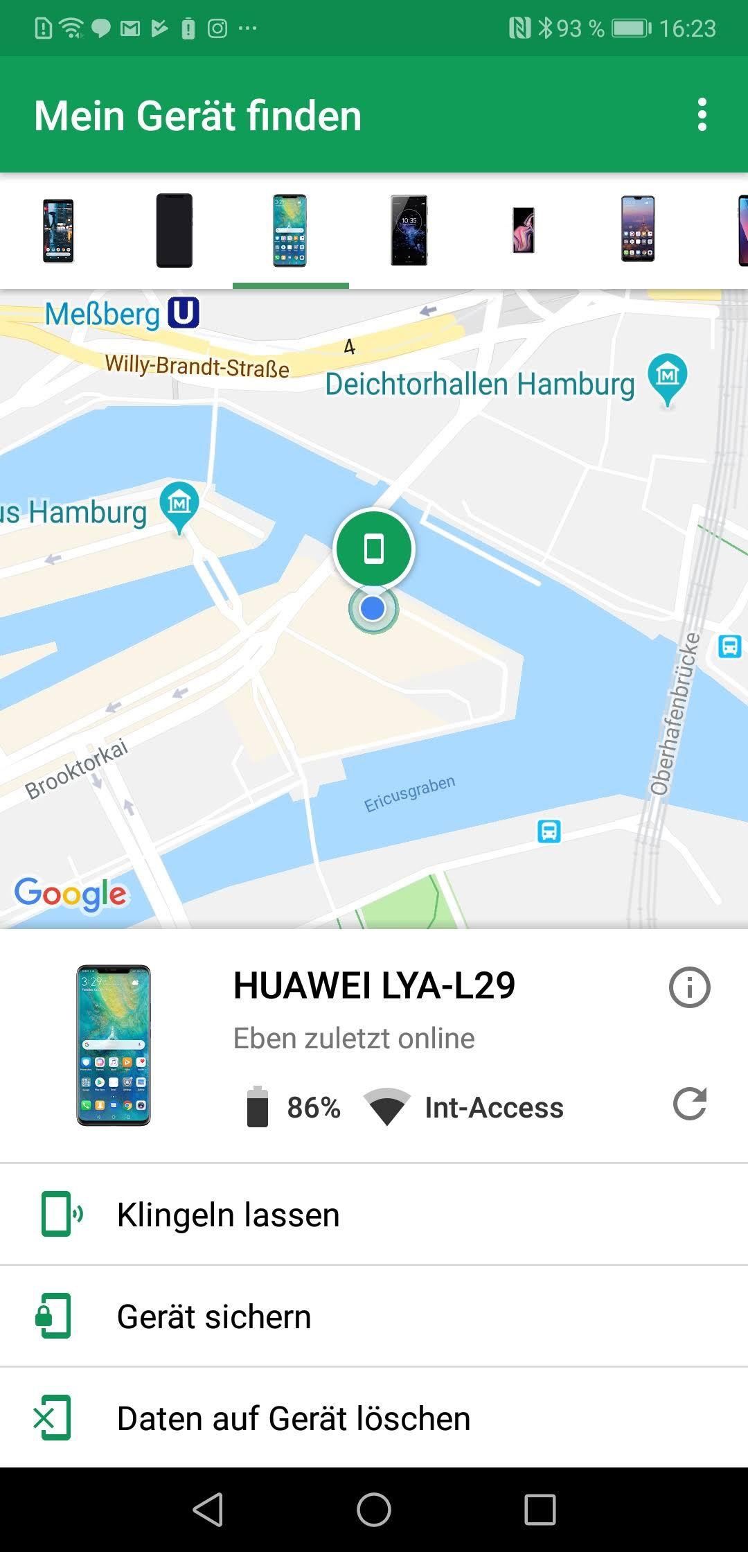 NUR ALS ZITAT Screenshot Android-Tipps/ Mein GeraÌt finden