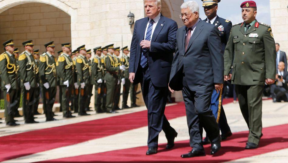 Donald Trump und Mahmoud Abbas
