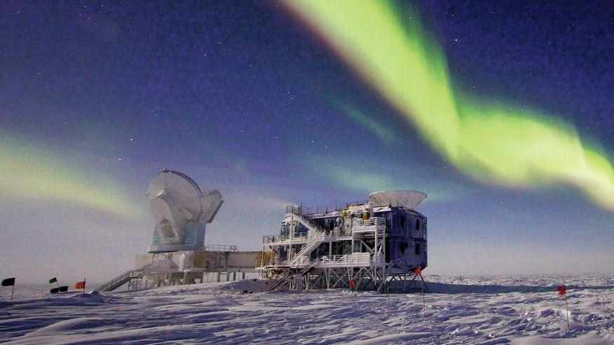 Teleskopgebäude auf der Amundsen-Scott-Südpolstation