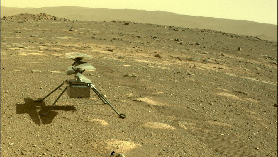 »Ingenuity«, der Nasa-Hubschrauber auf dem Mars (Archivbild)
