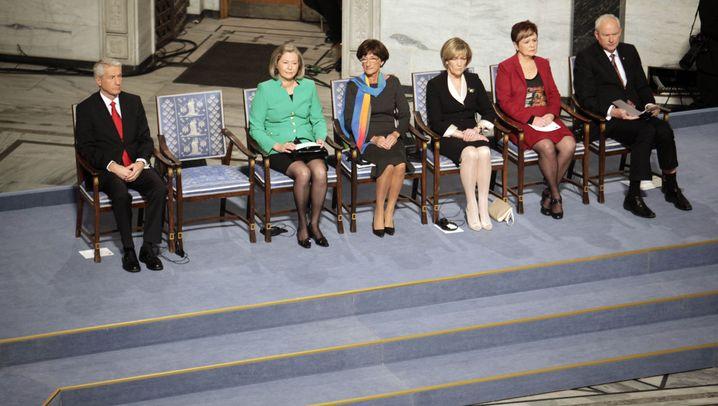 Friedensnobelpreis-Zeremonie in Oslo: Der Stuhl des Preisträgers blieb leer