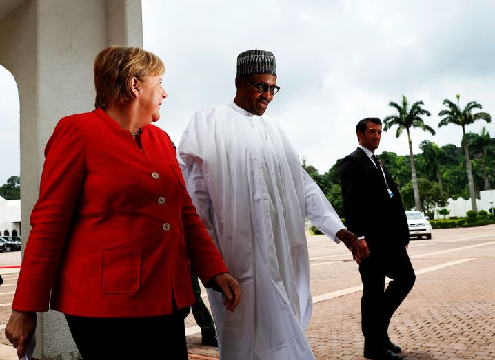 Angela Merkel und Muhammadu Buhari, Ende August in Nigeria