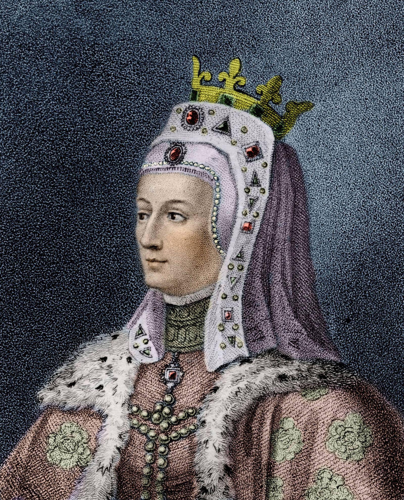 Portrait de la reine d Angleterre Isabelle de France Isabelle de France Isabella of France 1295