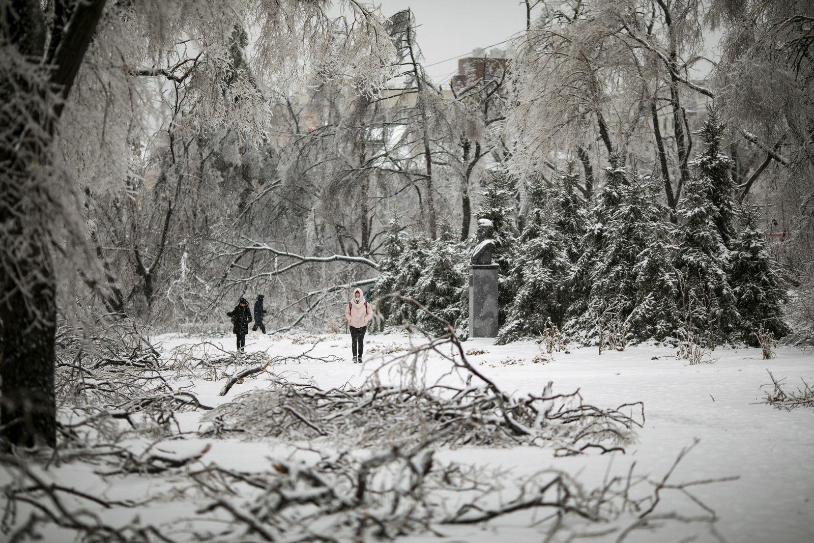 Nach Wirbelsturm in Russland