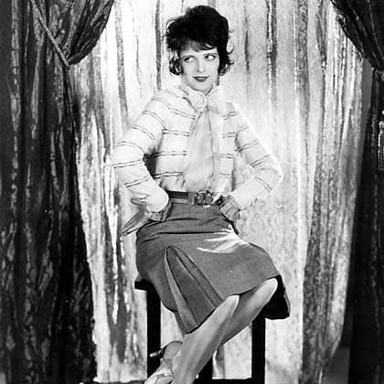 """The original """"It"""" Girl: Clara Bow in the 1927 classic """"It."""""""