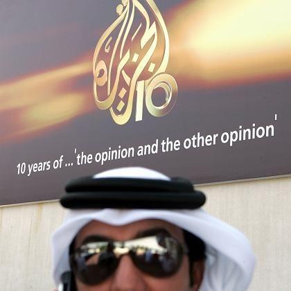 Mitarbeiter von al-Dschasira im Katar: Beim Terror immer Thema