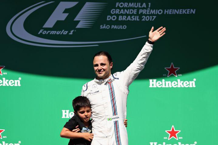 Diesmal aber wirklich: Felipe Massa, mit Sohn Felipinho, verabschiedet sich
