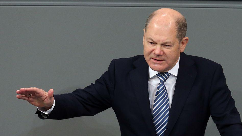 Olaf Scholz während der Haushaltsdebatte