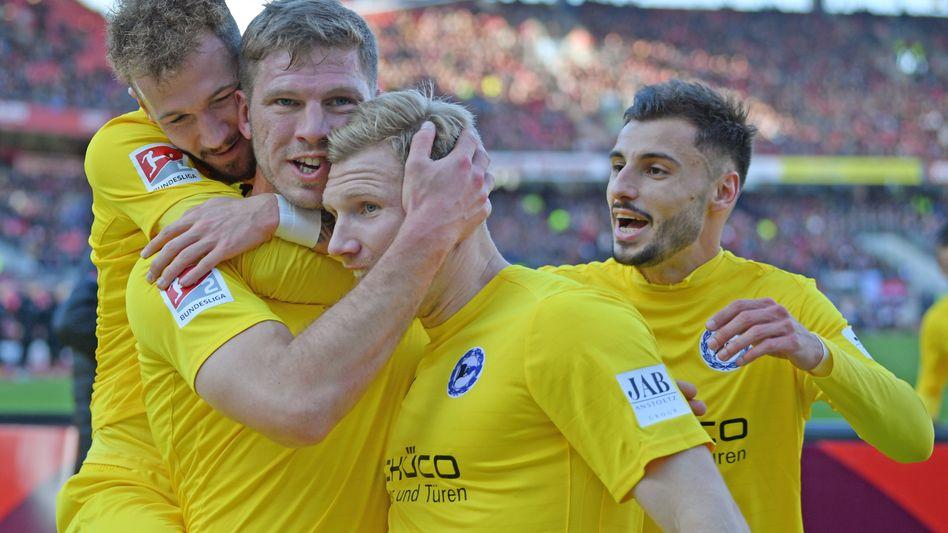 Arminia Bielefeld feierte in Nürnberg ihren sechsten Sieg in Folge