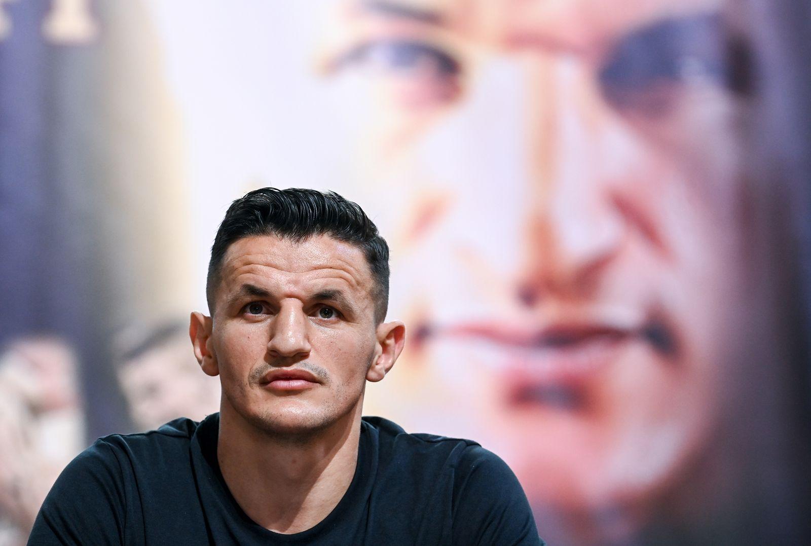 Pressekonferenz vor WM-Kampf Boxen