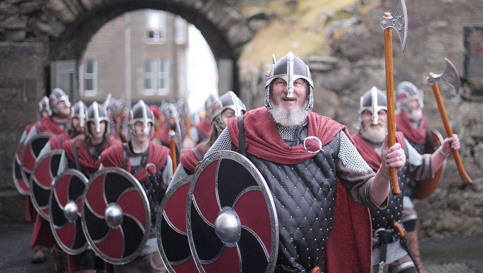 Wikinger-Festival auf den Shetland-Inseln