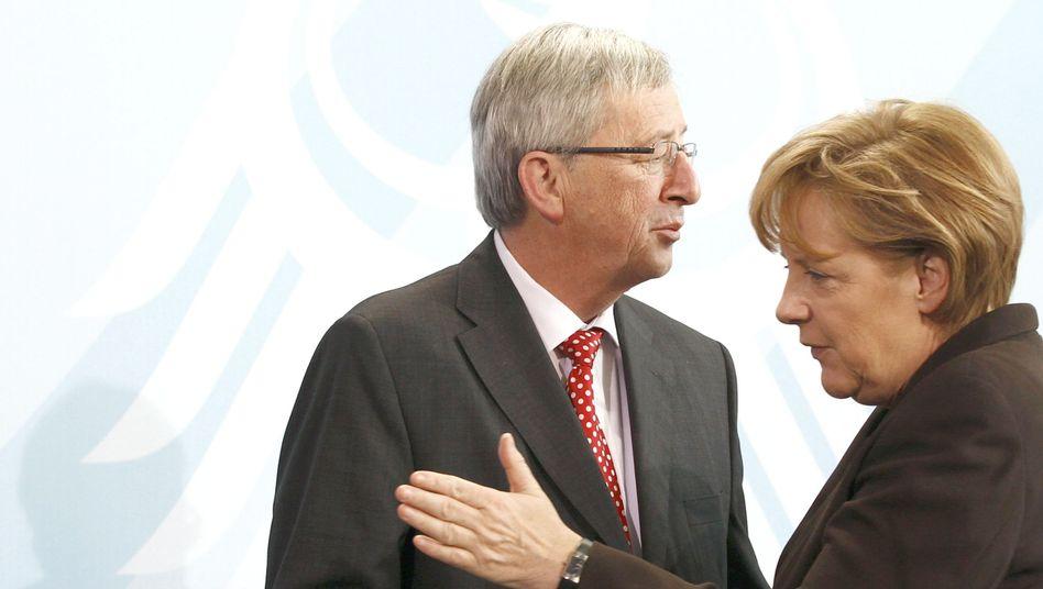 Bundeskanzlerin Merkel, Euro-Gruppen-Chef Juncker: Angespanntes Verhältnis