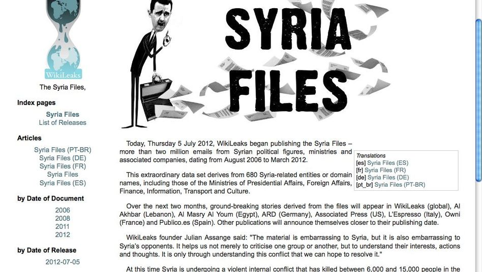 Neue WikiLeaks-Enthüllungen: Zwei Millionen syrische Mails sollen veröffentlicht werden