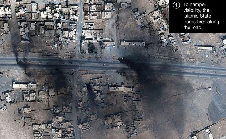 Satellitenaufnahme von Mossul
