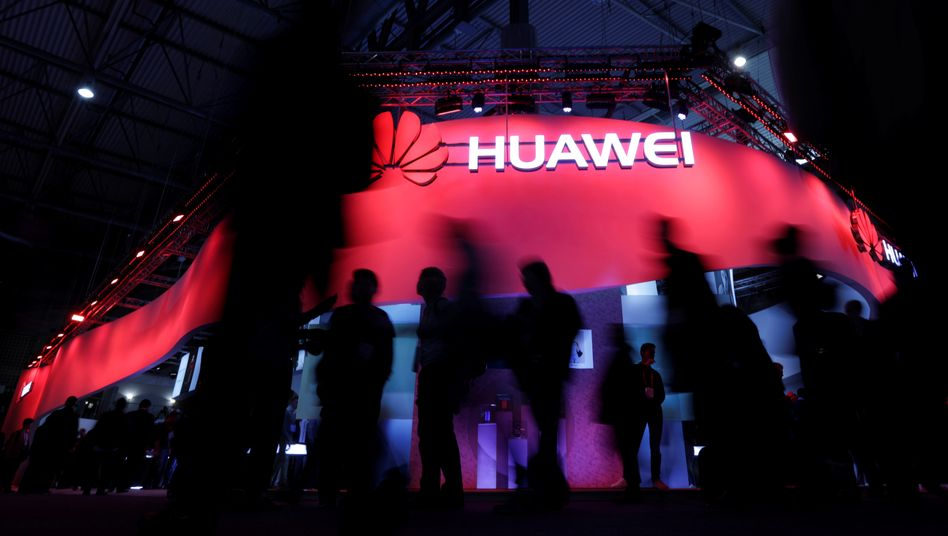 Huawei-Stand beim »Mobile World Congress« in Barcelona (2017): »Kritische Komponenten«