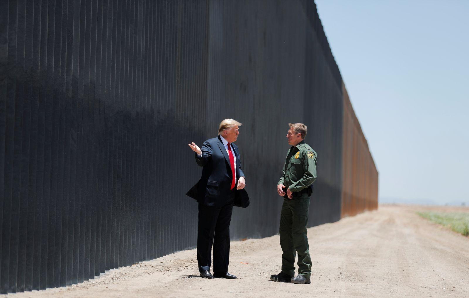 U.S. President Trump visits the U.S.-Mexico border in San Luis, Arizona