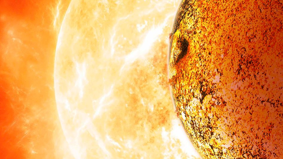 Heißer Erdzwilling: Kepler-78B und sein Stern (Illustration)
