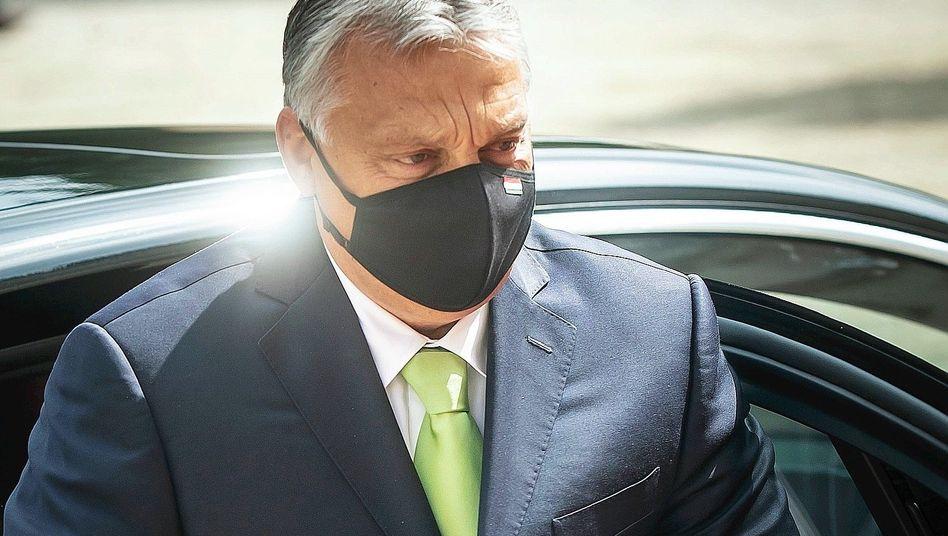 Machthaber Orbán:Gegenauftritt zu Merkel