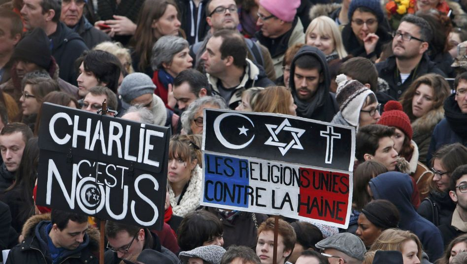"""Trauermarsch der Millionen in Frankreich: """"Wir verteidigen die Freiheit"""""""