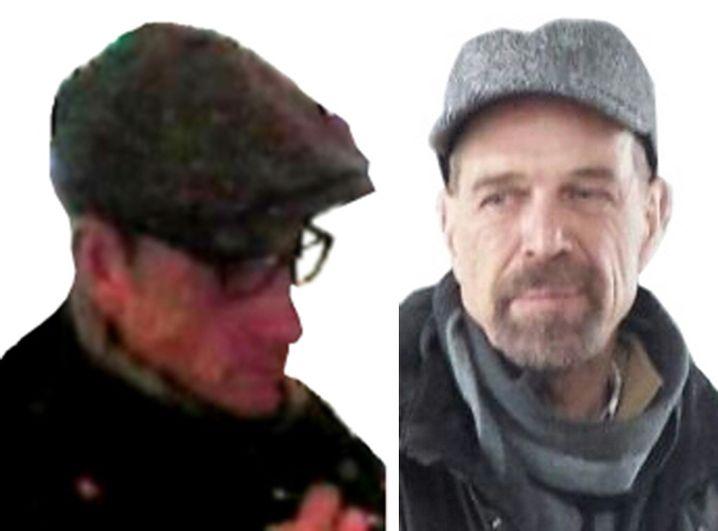 Bearbeitete Fahndungsfotos, datiert auf das Jahr 2016: Die Bilder sollen Burkhard Garweg (links) und Ernst-Volker-Staub zeigen