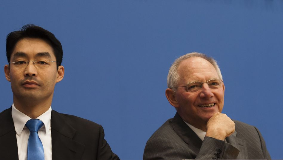 Finanzminister Schäuble: Klammheimliche Freude