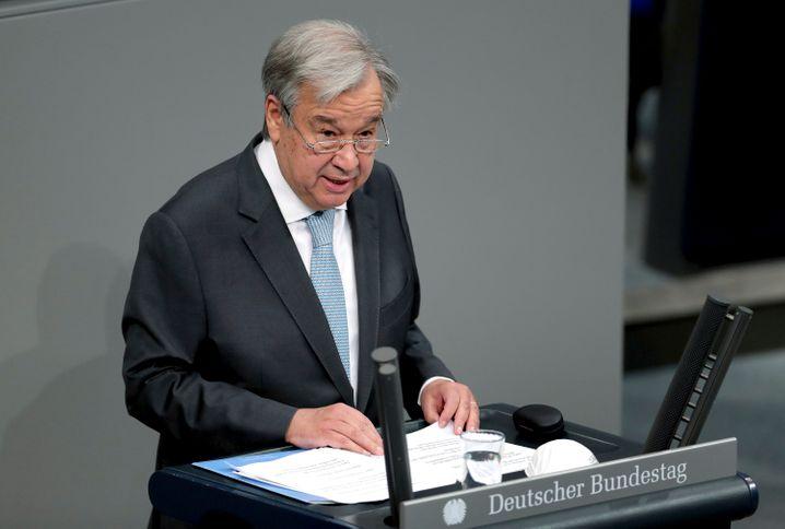 António Guterres im Bundestag: Gegen »das Virus der Fehlinformationen« vorgehen