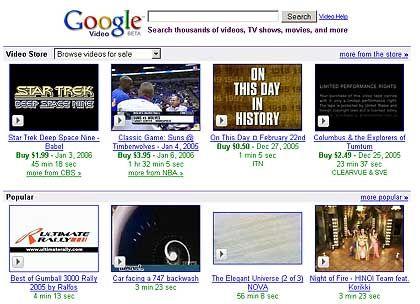 "Screenshot Google Video: Fünf Folgen ""McGyver"""