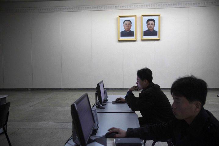 Computernutzer in Pjöngjang