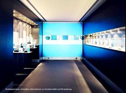 """""""Kommunikation im Raum"""" bildet beim ADC eine eigene Kategorie: Silber erhielt der """"Wall Showroom"""" ( von der Triad Berlin Projektgesellschaft und der ART+COM Medientechnologie und Gestaltung AG)"""