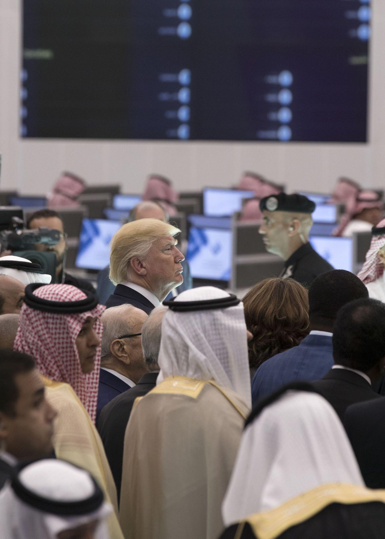 EINMALIGE VERWENDUNG Donald Trump in Riad