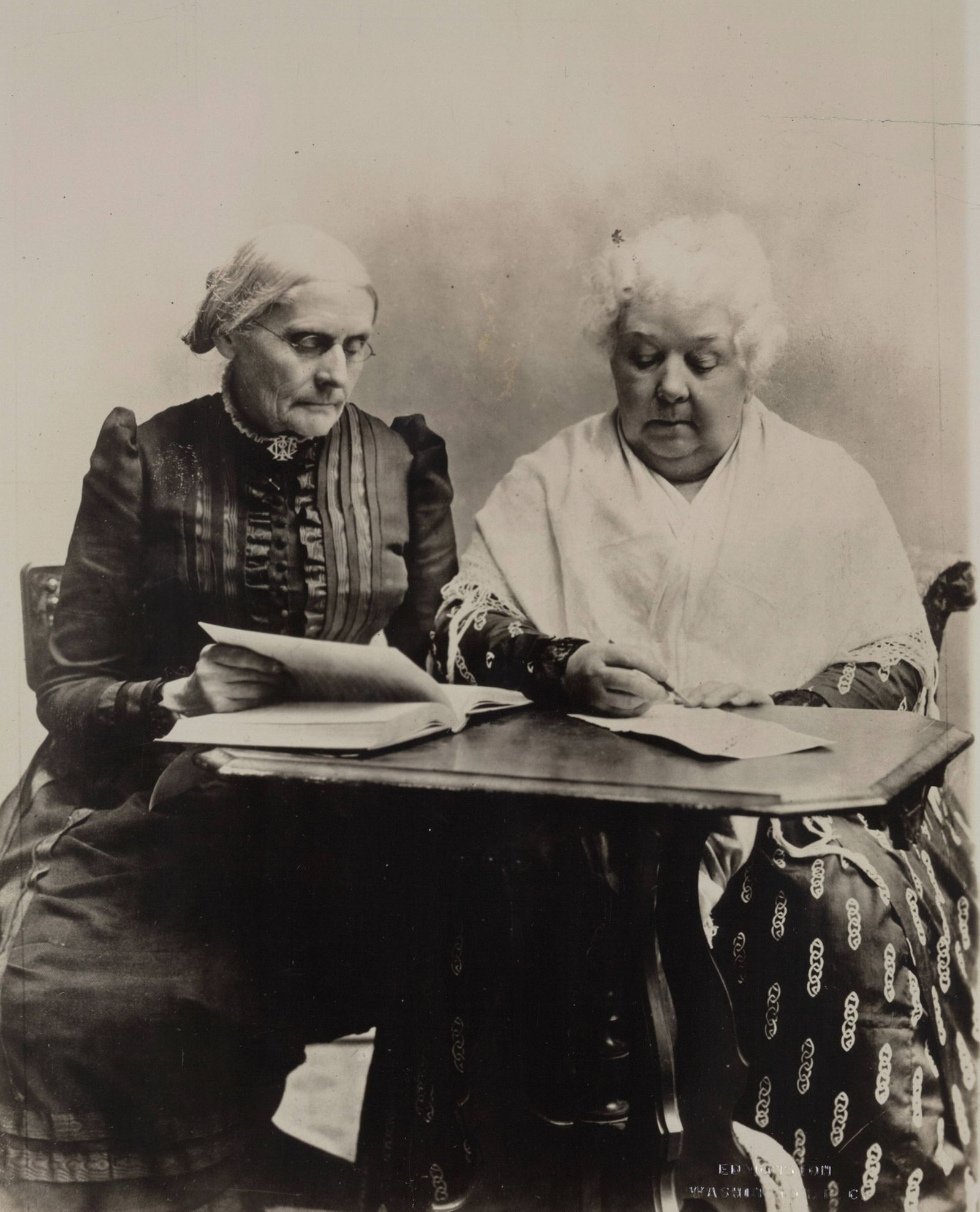 Susan B Anthony and Elizabeth Cady Stantonm 1899 Two pioneers in the Equal Rights cause WHA PUBLI