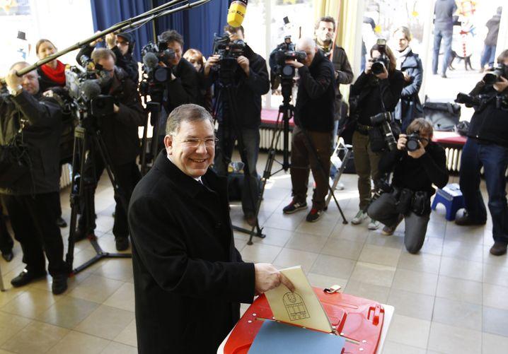 Hamburg hat gewählt: Ahlhaus schaffte 20 Kreuze in unter 2 Minuten