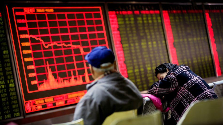 Aktien-Handelshaus in Peking